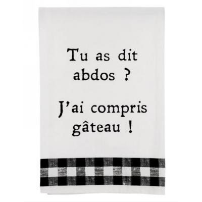 Linge À Vaisselle Abdos Et Gâteau