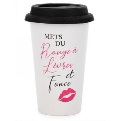 Tasse De Voyage Mets Du Rouge À Lèvres