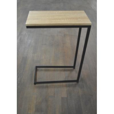 Table D'appoint Métal Noir & Naturel