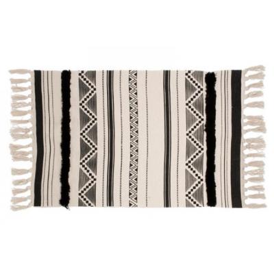 Tapis Aztèque Noir Et Blanc