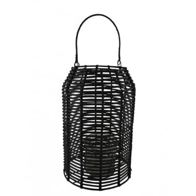 Lanterne Rotin Noir