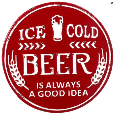 Affiche Métal Ice Cold Beer