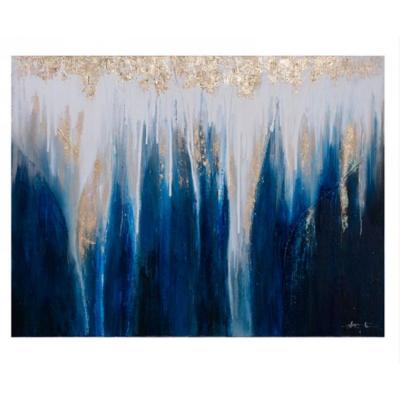 Cadre Abstrait Bleu Et Or