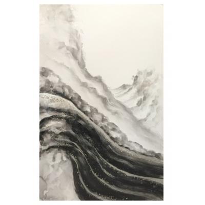 Cadre Abstrait Noir Et Blanc