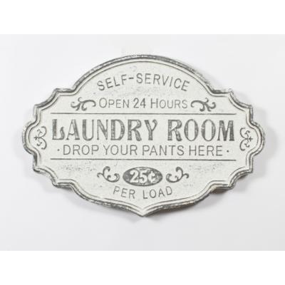 Plaque Métal Laundry