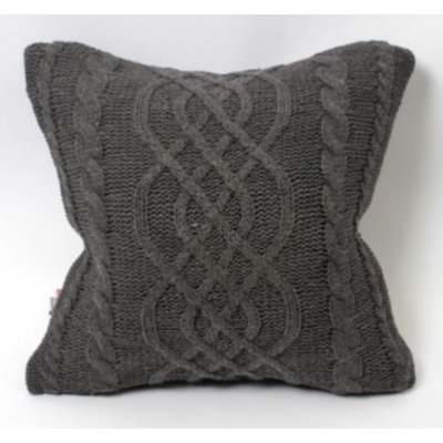 Coussin Gris Tricot