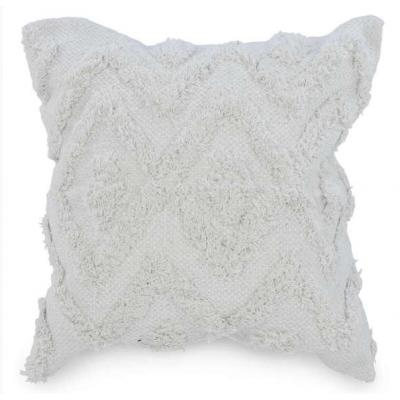 Coussin Blanc Motif