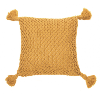 Coussin Tricot Shiva Moutarde