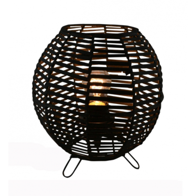 Lampe De Chevet Rotin Noir