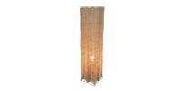 Lampe De Table Carrée Rotin Naturel