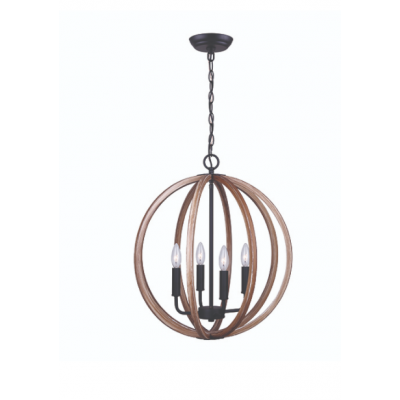 Luminaire Suspendu Chandelier Lewis Naturel
